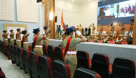 Online passing-out parade of Havildars selected under sports quota in Kerala Police